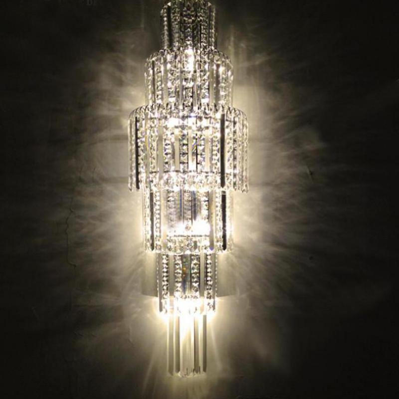 Big long K9 Crystal lights & lighting living room led Indoor Wall Lamp Restaurant art deco Lighting modern wall sconce Arandela new design nature white 2heads 6w 30cm led modern crystal wall lights lamp sconce factory wholesale led lightings