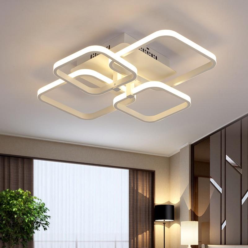 Quadratische Circel Ring-Leuchter für Wohnzimmer Schlafzimmer Home - Innenbeleuchtung - Foto 4