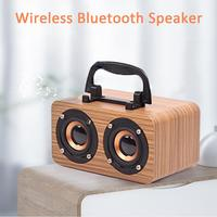 FT 4002 Wooden Wireless Bluetooth Speaker Home Office Mobile Phone Micro USB Charging Strong Bass Stereo Speaker Audio Device
