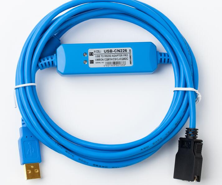 USB-CN226 PLC Programming Cable  for omron CQM1/C200HE/CS Series professional integrity plc programming cable usb fbs seconds