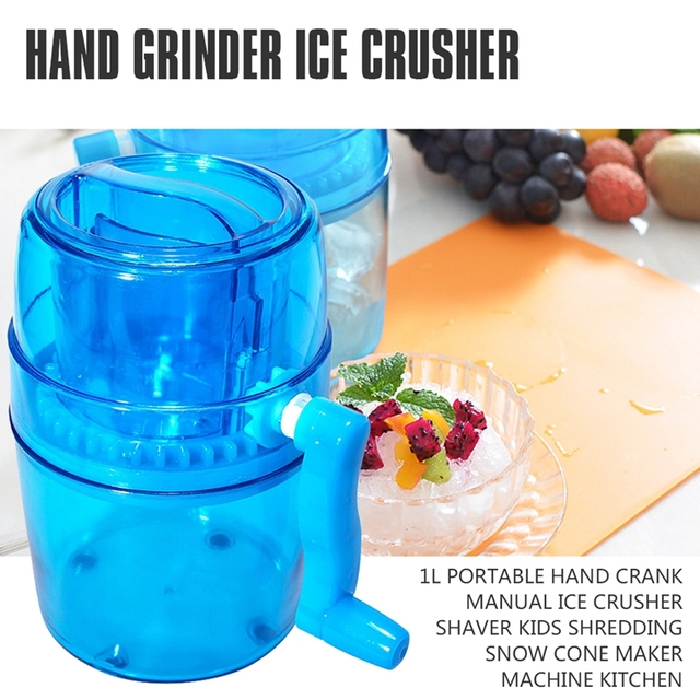 Manual Ice Crusher Hand Crank Ice Grinder Non-slip Base Portable Ice Chopper