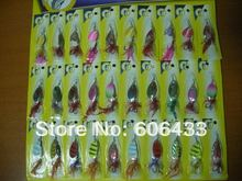 Fishing Spoon Lure Treble Fly Hook Bass Baits  wholesale