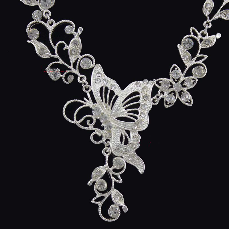HIMSTORY Hot Elegance Gold Silver Butterfly Designs Bridal Jewelry