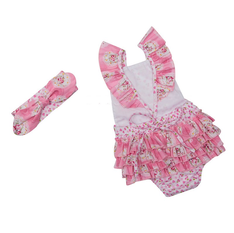 Floral Baby Girl Bodysuits  (1)