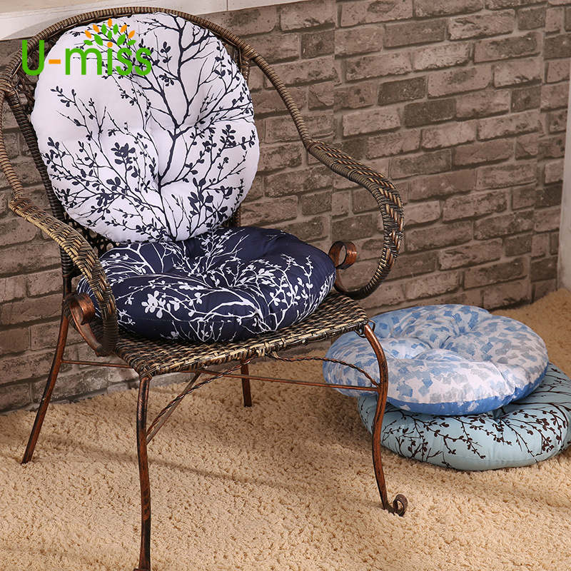 U Miss Traditional Chinese Style Seat Pads Circle Cushion Chair Futon Pad Tatami Mat Printing Yoga Sofa In From Home Garden On