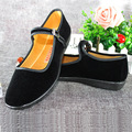 Flat With The Set Of Foot Work Shoes Professional Work Clothes Black