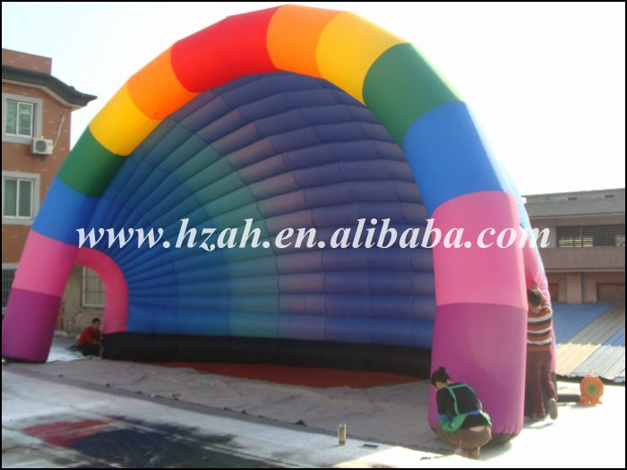Advertising Rainbow Tent Colorful Inflatable Tent For Events Decoration
