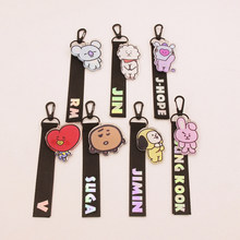 BT21 Cute Laser Lanyard Creative Accessories Phone Rope Strap Hot Kpop BTS Bangtan Boys ARMY BackPack Ribbon Keychain Keyring(China)