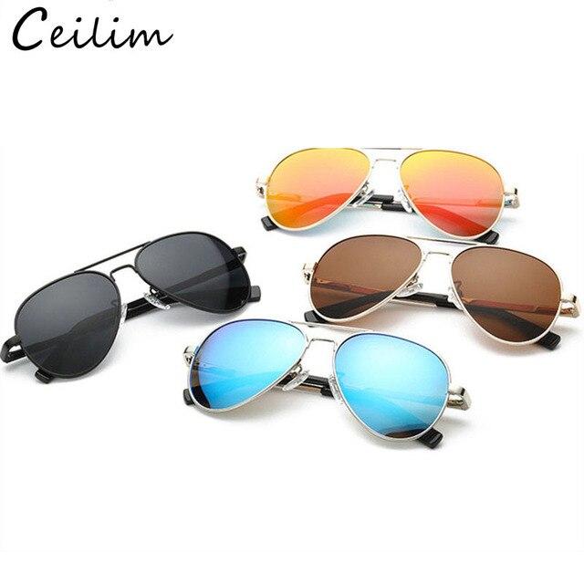 9c25974dccd9f8 Moda spolaryzowane dzieci lustrzane okulary chłopcy dziewczyny klasyczna  srebrna ramka soczewka niebieska okulary przeciwsłoneczne pilotki dla