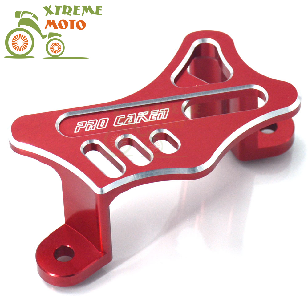 CNC Red Rear Brake Caliper Guard Protector For Honda CR125 CR250 02-08 CRF250R CRF250X 04-17 CRF450X CRF450R 05-17 CRF450RX 2017 cnc offroad mx clutch brake levers for honda cr125r 04 07 cr250r crf250r 04 06 crf450r 04 06 crf250x 04 16 crf450x 05 16