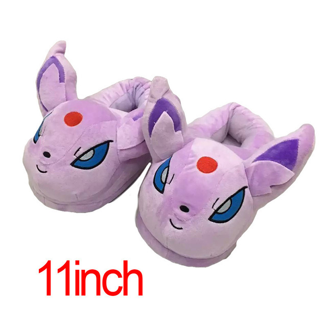 Winter Men or Women Cartoon Pokemon Slippers Elf Ball Pikachu Pokemon Go Plush Shoes Warm House Slippers 4