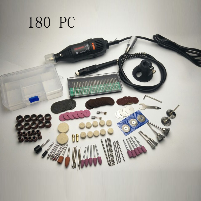 220V Mini Electric Drill Engraver with 0.3-3.2mm Universal Chuck Shiled Rotary Tool Kit Set for <font><b>Dremel</b></font> 3000 <font><b>4000</b></font> Power Tools image