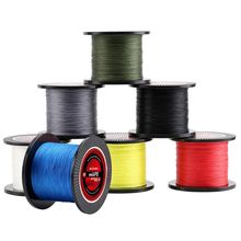 OOTDTY 300M PE Line 4-strand Braided Fishing 15-35LB Wire Multi-filament Smooth
