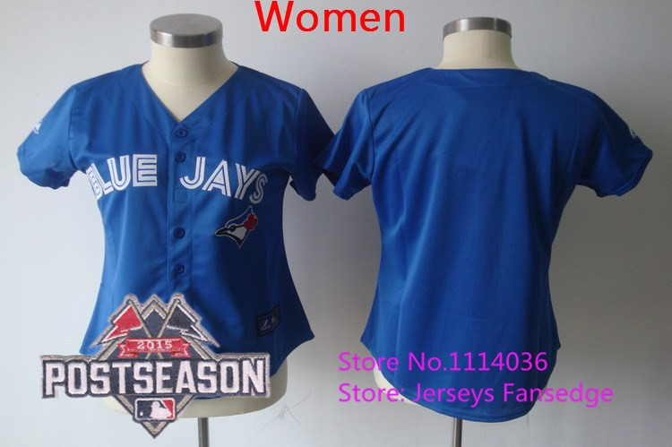 Wholesale-Toronto-Blue-Jays-Jersey-Women-s-Blank-Blue-Baseball-Jersey-Embroidery-Logos-Accept-Mix-Orders