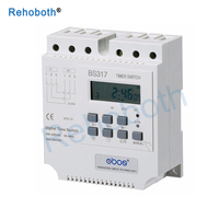 Relay 380V Weekly 7 Days Programmable Digital Timer Switch Din Rail Mount Time Controlled Switching for Electric Appliance KG317