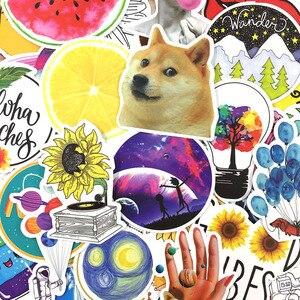 10/53 шт Мультяшные желтые наклейки для девочек в стиле INS граффити DIY наклейки для гитары, мотоцикла, ноутбука, багажа, скейтборда