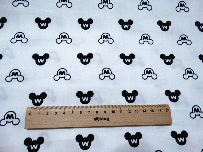 ครึ่งการ์ตูน mickey พิมพ์ผ้าฝ้าย 100% ผ้าทำด้วยมือ DIY เสื้อผ้าเด็กผ้า A568