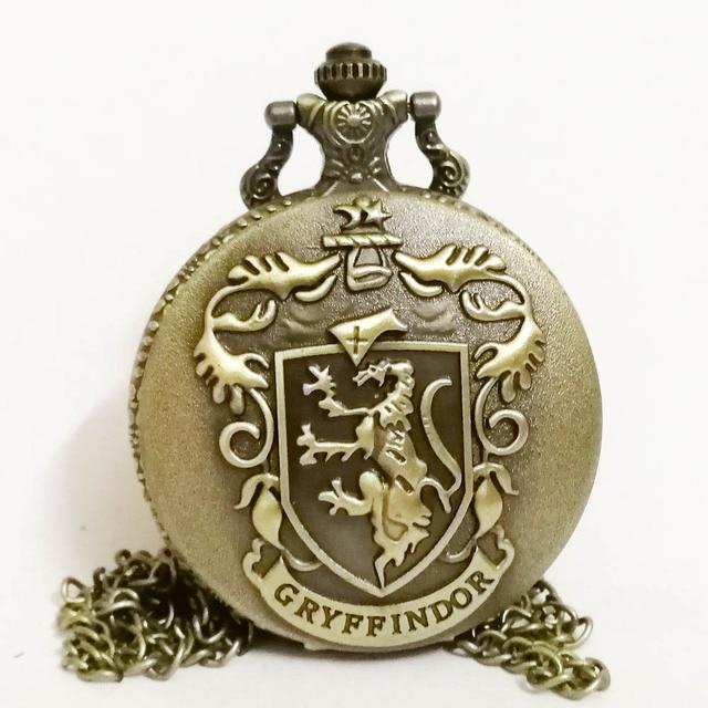 Harry Potter Hogwarts Gryffindor School Lion Color Dial Quartz Pocket Watch Anal