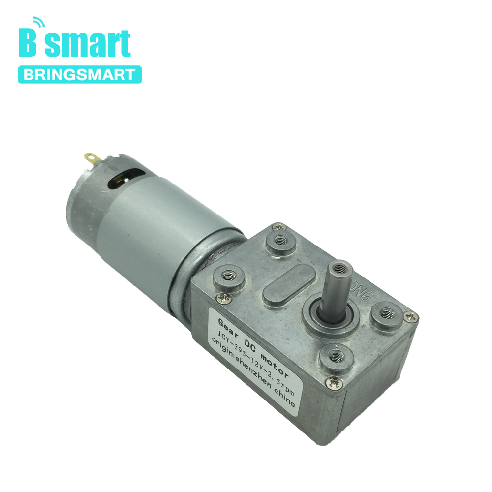 Bringsmart JGY-<font><b>395</b></font> Worm Gear <font><b>Motor</b></font> <font><b>DC</b></font> 12 Volt MiniTurbine Worm Reducer gear <font><b>motor</b></font> Mini Reduction Gearbox Engine Self-locking Gea image
