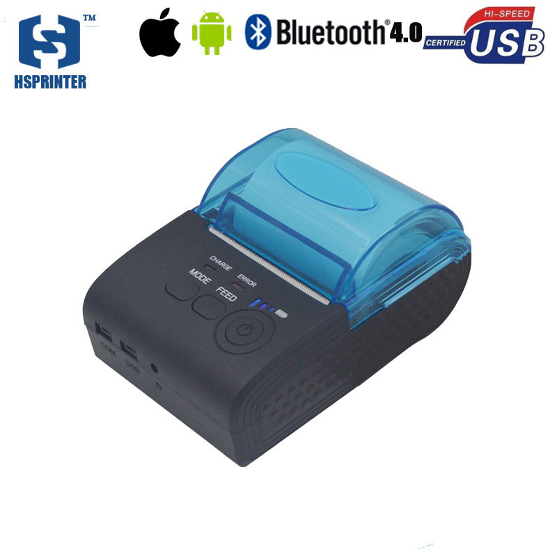 2 inch pos portable mobile printer HS-590AI usb rs232 port bluetooth android and ios thermal receipt printer provide SDK