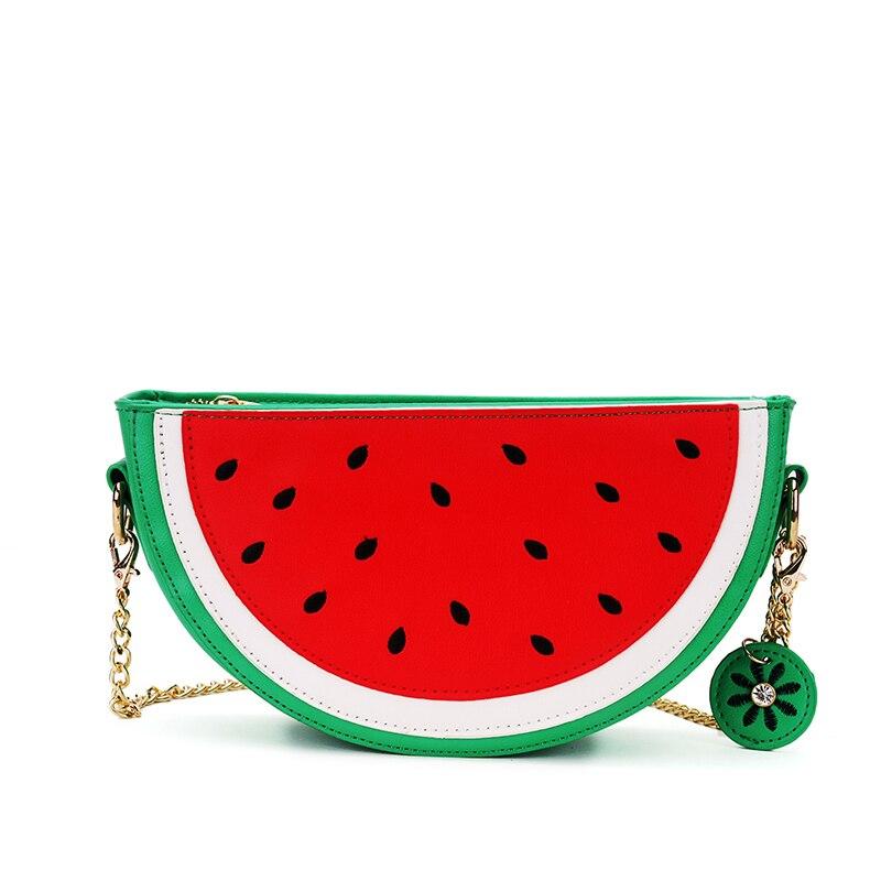 Mujeres de la manera bolsos bolsa de bolsillo bolsa de fruta de naranja sandía l