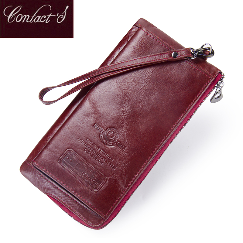 Female Long Coin Purse Genuine Leather Women Wallet Big Capacity Money Bag With Phone Pocket Fashion Card Holder Clutch Wallets