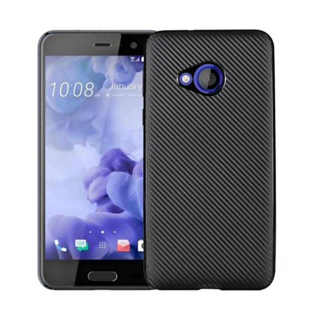 quality design b8262 0f13b US $1.88 5% OFF|Cover For HTC U Play Case For HTC UPlay Case Carbon Fibre  Brushed TPU Smart Phone Cases U Play Phone Bag-in Fitted Cases from ...