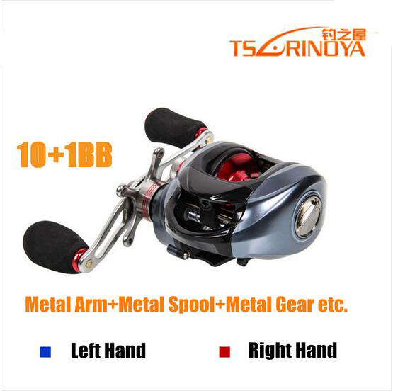 Trulinoya Baitcasting Reel 10+1 Ball Bearings Fishing Reel Carp Fishing Casting Left Right Hand Bait cheap fishing reel DW1000 18bb 1 ball water drop wheel bearings double brake baitcasting reel fishing gear right left hand bait casting fishing wheel