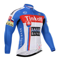 Spring Saxo Bank Team Cycling Clothing Breathable Cycling Jersey Mountain Bike Sportwear Bike Jerseys Ropa Ciclismo