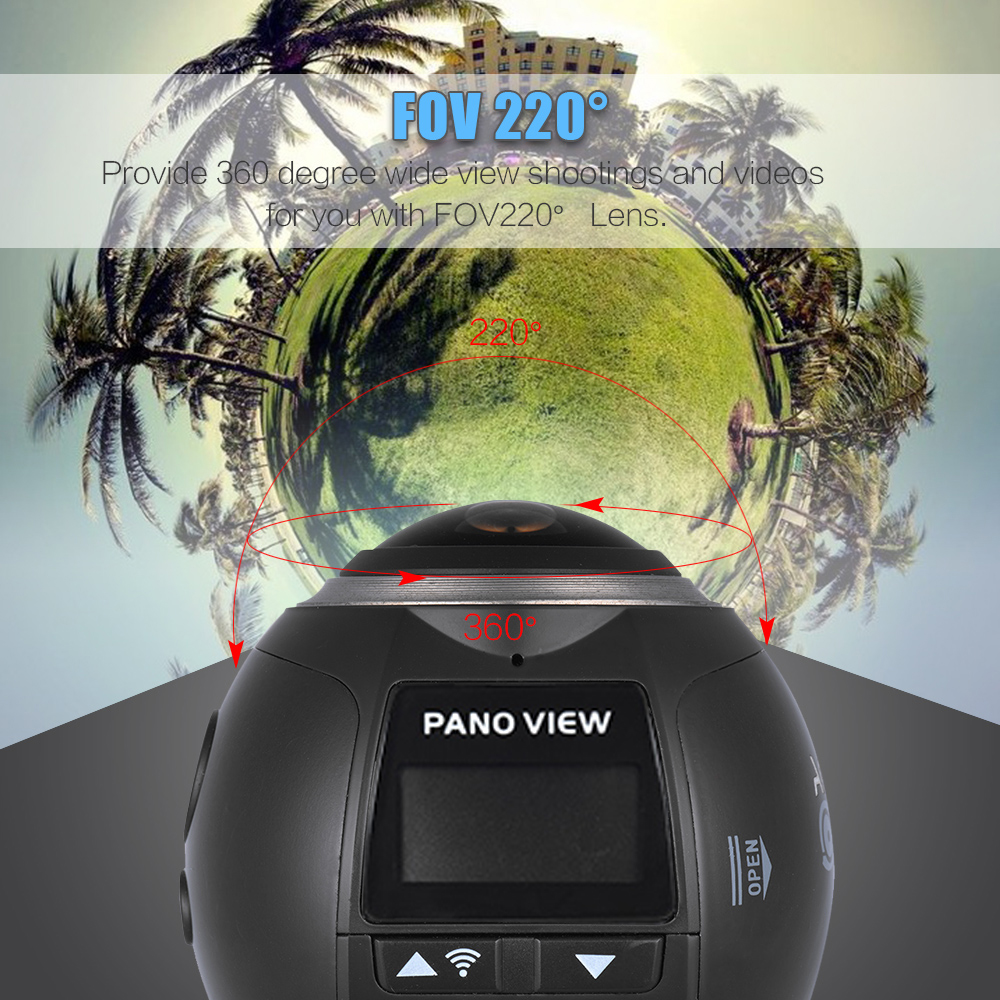 Andoer-V1-360-Panorama-Camera-Wifi-2448P-30FPS-16MP-Fisheye-V-Video-Camera-Film-Sports-Action