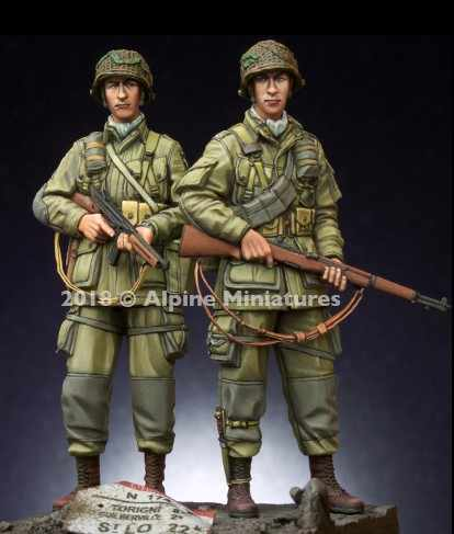 1/35 Scale WW2 US Military Figures 2 people Miniatures Unpainted Resin Model Kit Free Shipping
