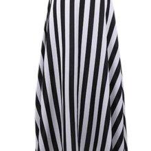 Summer Style Petite Black White Stripe Chiffon Skirt Woman Ladies Casual  A-line a8c2ba00685d