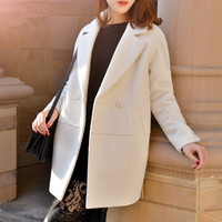 50 Wool Coat Female Thicken Warm Women S Winter Jacket Loose Fashion Long Designer Park Women