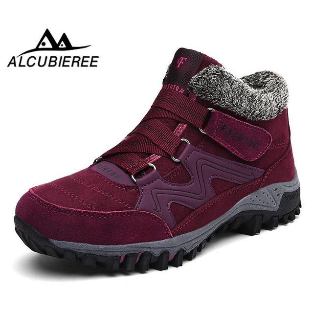 Botas de inverno para as mulheres botas de neve quente à prova d' água de inverno botas de pelúcia bootswomen2018 camurça quente botas de inverno sapatos femininos de pelúcia