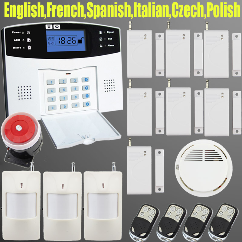 Lcd keyboard wireless sms home gsm alarm systems house intelligent auto burglar door security alarm system