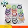 10 pcs um lote de Peças de Reposição Originais 1.75mm 10 M Fio de Material ABS Filamento Impressora 3D de Plástico Para 3D Impressora de caneta