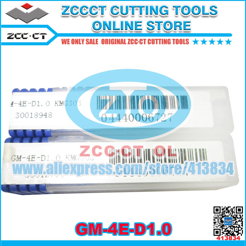 Free Shipping ZCCCT cutting tools cnc milling cutter end mills GM-4E 1 pack zccct cutting tool cnc milling inserts lathe tools cutter plate 1 pack