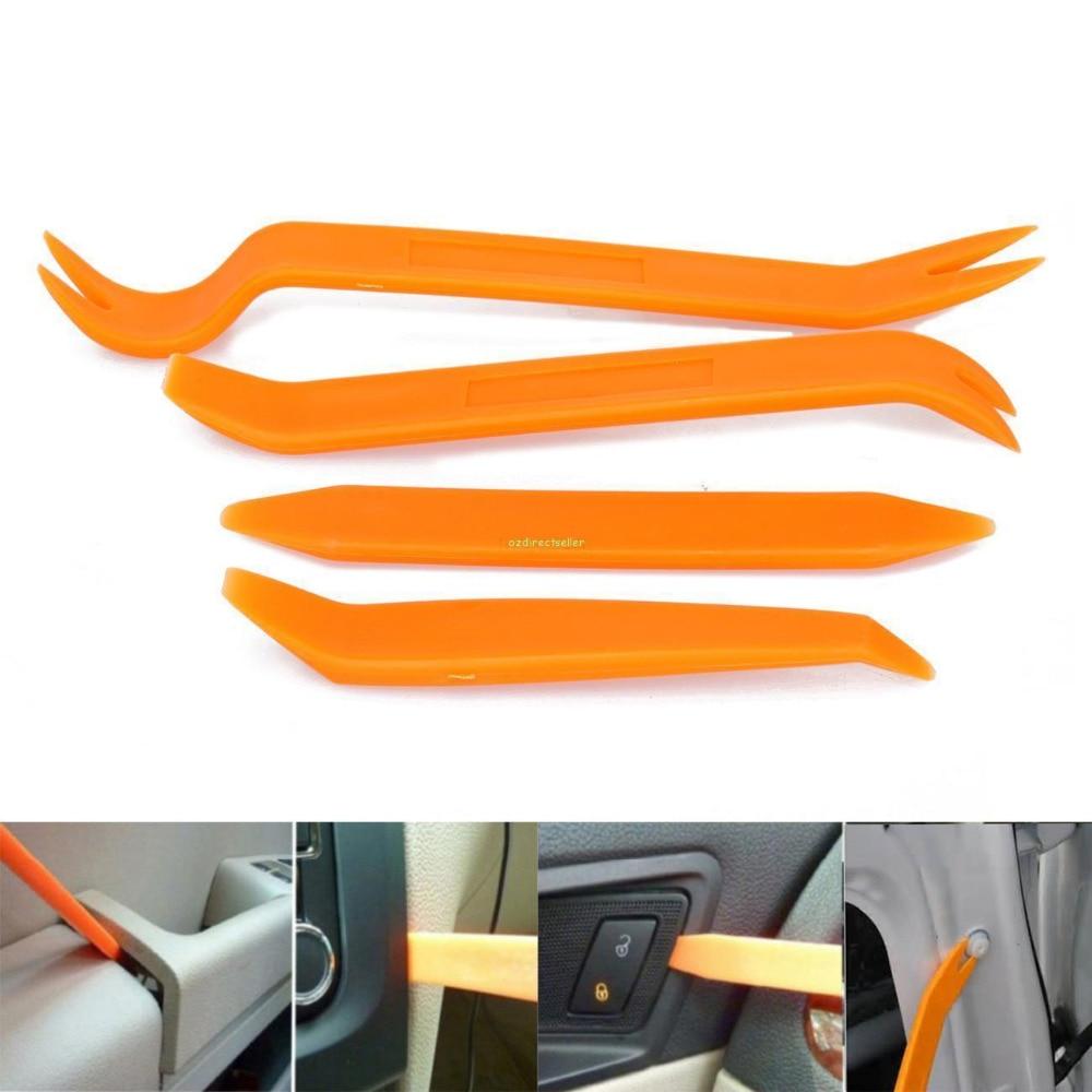 4 pcs Car Radio Door Body Clip Trim Dash Panel Install Removal Pry Tools Kit