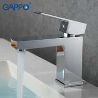 GAPPO fregadero moderno grifo mezclador cubierta de baño montado grifo mezclador grifo cascada baño grifo llave de agua