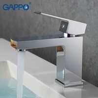 Grifo monomando contemporáneo de GAPPO, grifo mezclador montado en la cubierta del baño, grifo de cascada, lavabo, grifo de agua