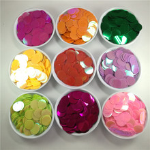 250pc 20mm Pink Red Blue Yellow Purple Orange Green Large Round Loose Sequin Crafts Sewing Wedding Garment Jewelry DIY Accessory