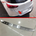 HOTTOP Outside Stainleess Steel Rear Bumper For Mazda CX-3 2016 2017 Trunk Sill Scuff Car Accessories