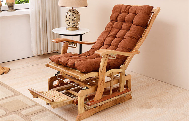 Attrayant Modern Rocking Chair Bamboo Furniture Outdoor/Indoor Rocker Reclining Back  Recliner Mechanical Bamboo Rocking Chairs Cushions In Living Room Chairs  From ...