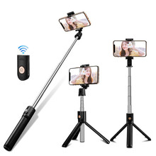 Protable Bluetooth 4.0 Selfie Stick For iPhone Android Foldable Handheld Monopod Shutter Remote Extendable Mini Tripod стоимость