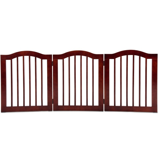 Pet's Folding Brown Wooden Gate