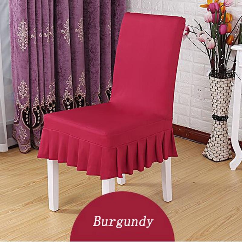 Aliexpresscom buy 6pcs lycra spandex dining elastic for Chair cover design
