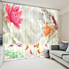 3D Creative Design Photo Curtain Bedding Room Living Room Window Curtains(China)