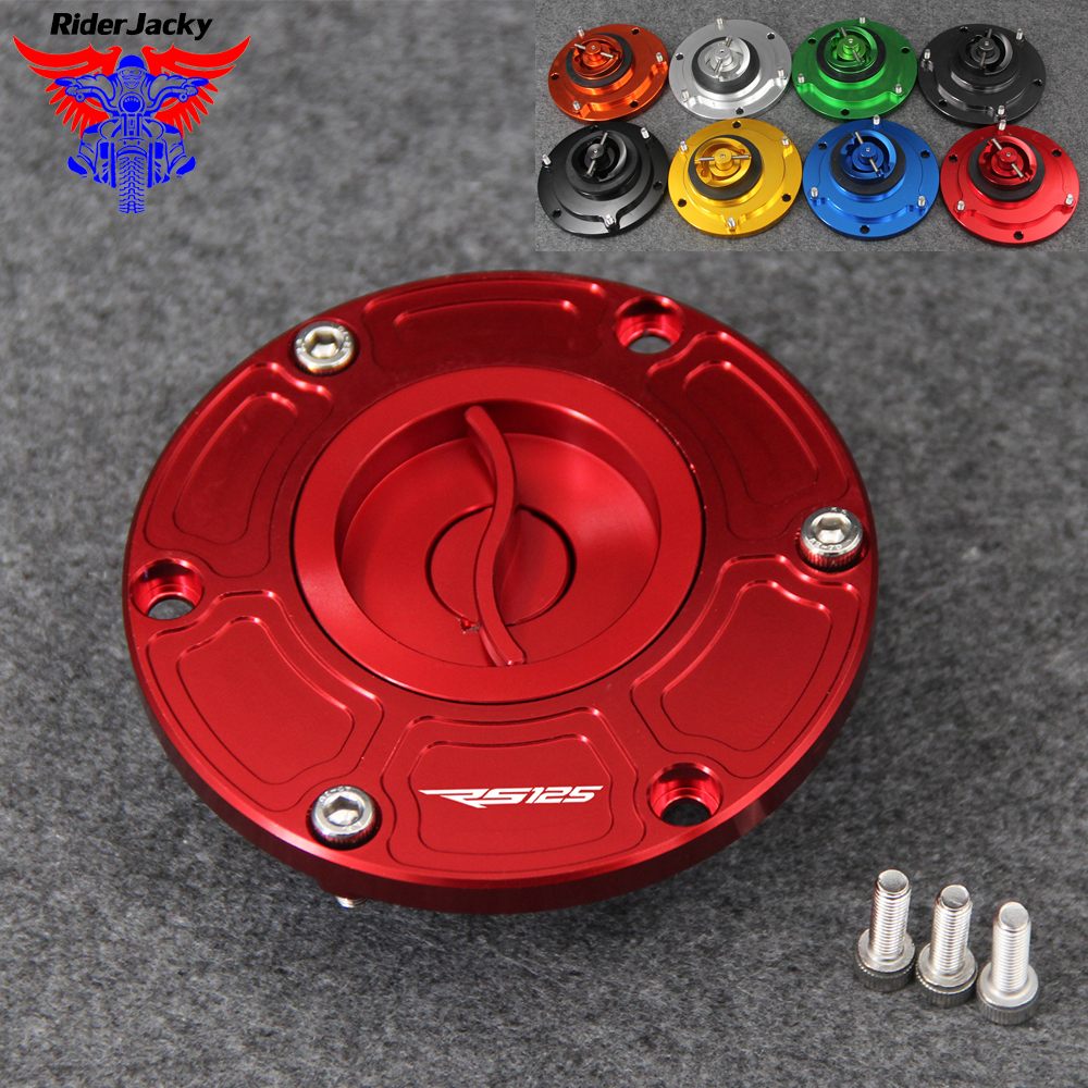 For Aprilia RS125 RS 125 All Years Motorcycle Keyless Fuel Tank Gas Cap Cover
