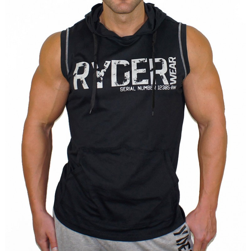 Mens Bodybuilding Hooded   Tank     Tops   Gyms Fitness Workout Sleeveless Hoodie Sweatshirt Male Fashion Casual Cotton Vest Clothing