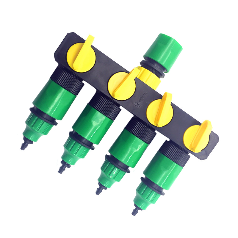 1 Satz (6 Stücke) 4 Way Shunt Wasser rohrverbinder Wasser weichen Drip garten bewässerung 4/7 oder 8/11 Schlauch Anschlussstutzen